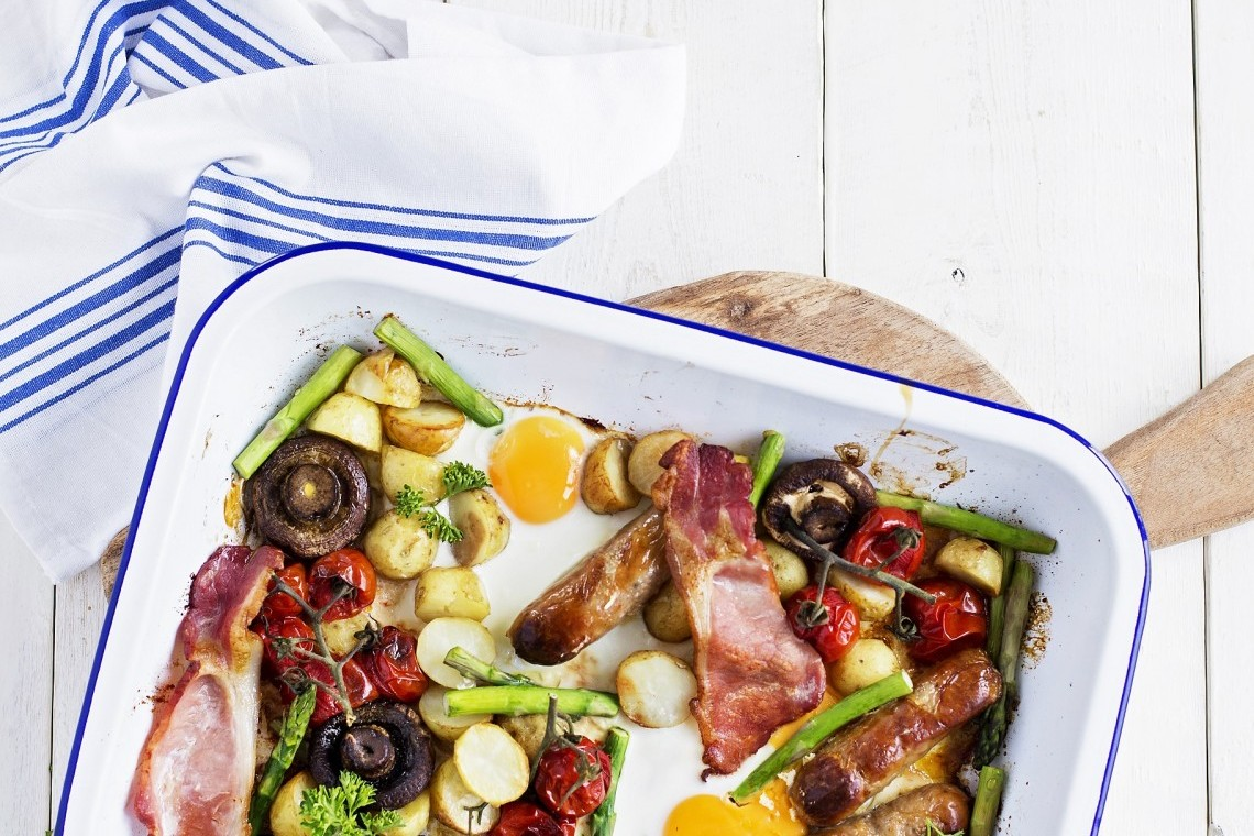 Cornish New potato breakfast tray recipe