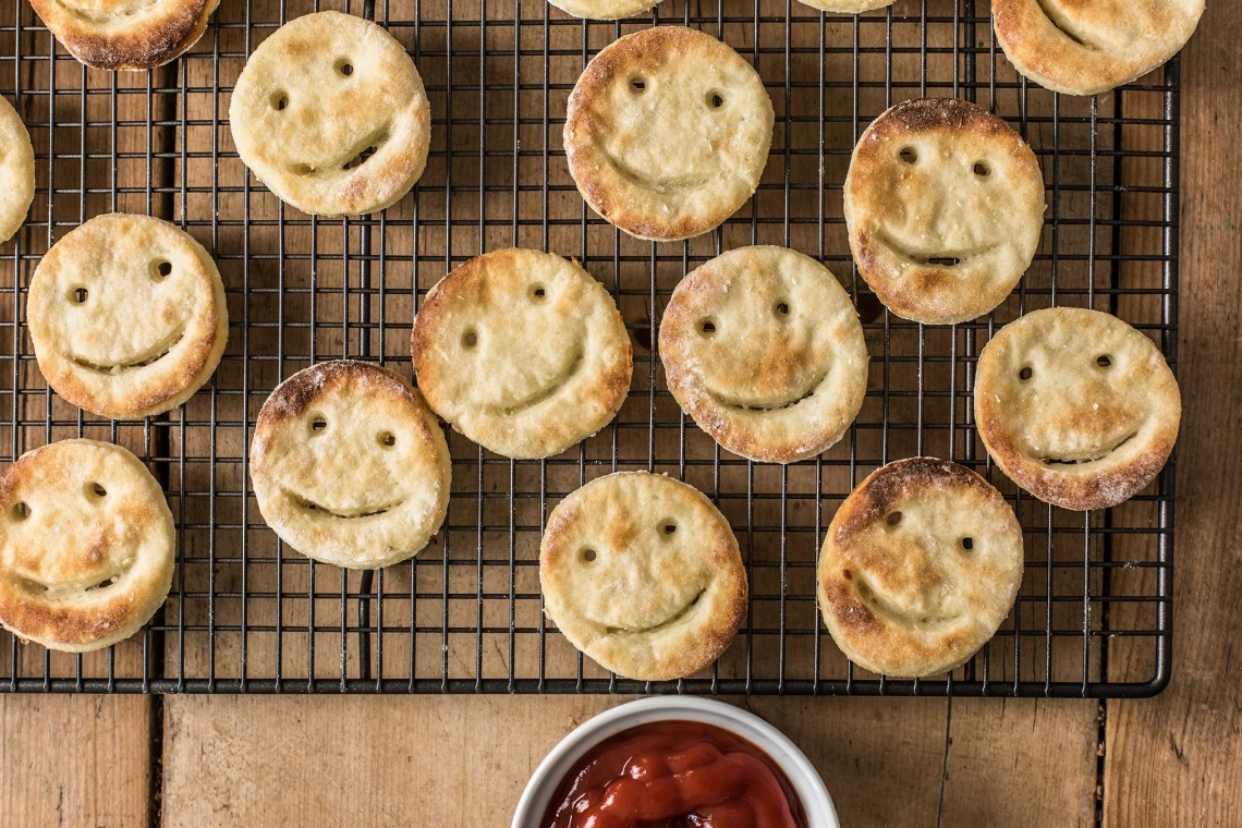 Veggie homemade smiley faces suitable for side dish
