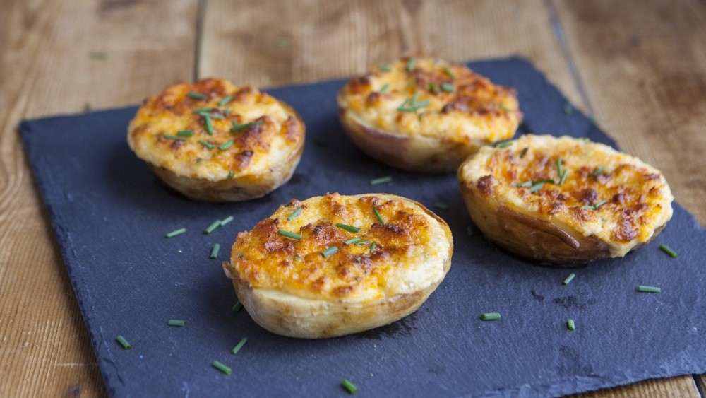 Creamy crab-stuffed spuds