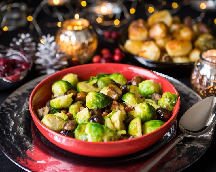Brussels sprouts with chestnuts and pancetta
