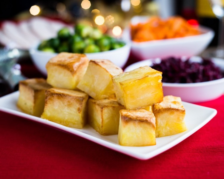 Low fat oven roastie cubes