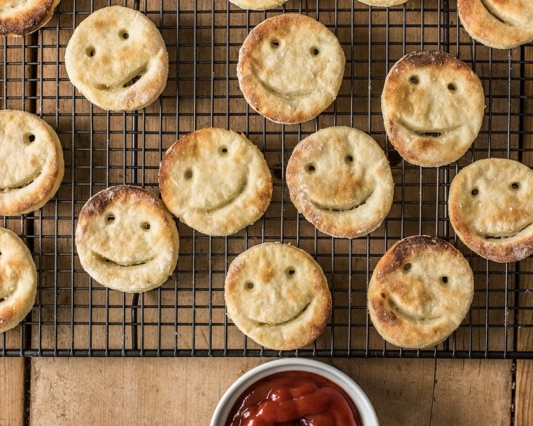 Homemade smiley faces