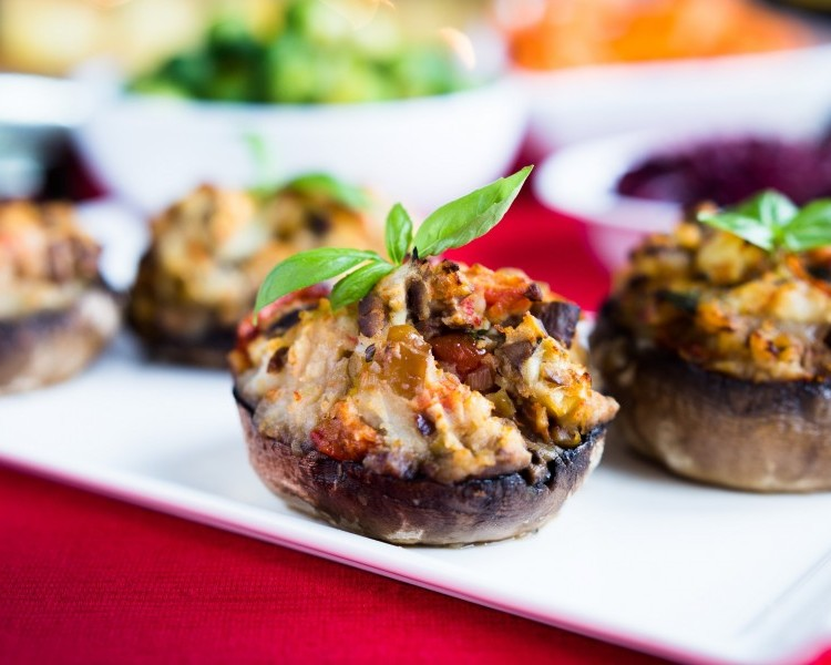 Potato Stuffed Portabello Mushrooms