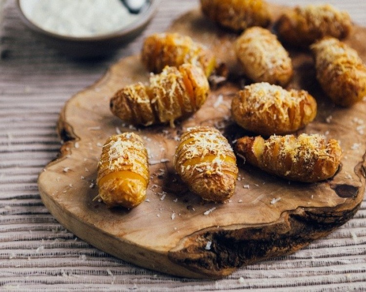 Mini Hasselback Cornish New potatoes